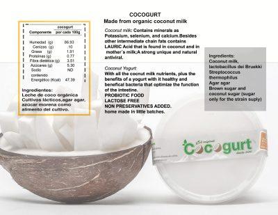 Etiqueta de cocogurt